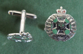 Rifle Brigade Enamelled Cufflinks